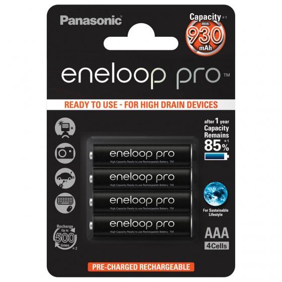 Panasonic Eneloop PRO BK-4HCCE/4BE AAA/Micro/LR03 4-Blister