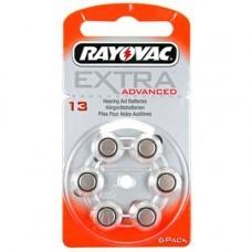 Rayovac Extra HA13, PR48, 4606 Hörgeräte Batterie 6-Pack