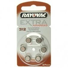 Rayovac Extra HA312, PR41, 4607 Hörgeräte Batterie 6-Pack