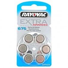 Rayovac Extra HA675, PR44, 4600 Hörgeräte Batterie 6-Pack