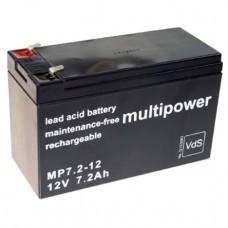 Multipower MP7.2-12 Bleiakku 12 Volt