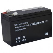 Multipower MP8-12C Bleiakku