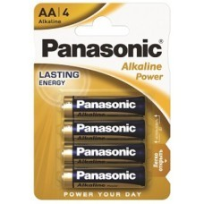 Panasonic Alkaline Power AA/Mignon LR6APB Batterie 4-Pack