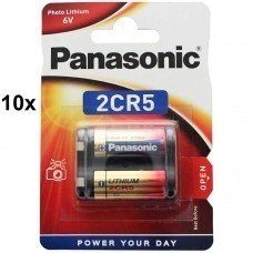 Panasonic 2CR5 6V Photo Power Lithium Batterie 10-Pack