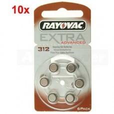 Rayovac Extra HA312, PR41, 4607 Hörgeräte Batterie 60-Pack