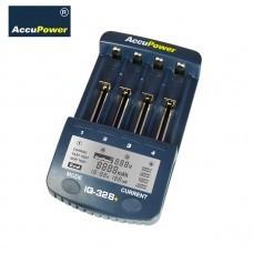AccuPower Li-Ion/Ni-MH/Ni-Cd Ladegerät IQ328+ Display/Entladefunktion