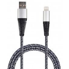 2GO USB Datenkabel USB auf Lightning Nylon Grau
