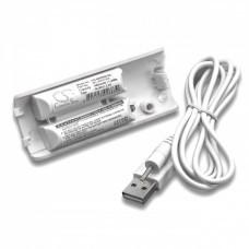 Akku passend für Nintendo Wii Controller inkl. USB-Ladekabel
