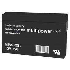 Multipower MP2-12SL Blei-Akku 12V 2,0Ah