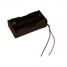 Batteriehalter für 2x 18650-Zellen mit Kabel Akku