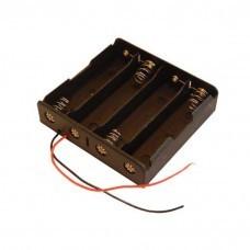 Batteriehalter für 4x 18650-Zellen mit Kabel Akku