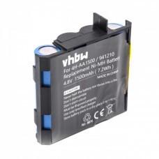 VHBW Akku für Compex Energy, Edge, Fit, 4.8V, NiMH, 1500mAh