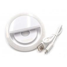 Externes Selfie-Licht, Lampe weiß mit 36 LED's mit integriertem Akku