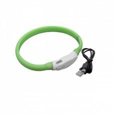 VHBW Hunde-Halsband mit LED's, grün, 35cm