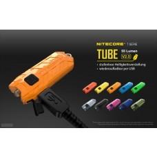 Nitecore TUBE 2.0 Schlüsselanhänger-Taschenlampe, mit Micro USB, 55 Lumen, schwarz