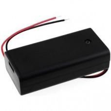Batteriehalter für 2x Mignon/AA Batterien mit Anschlusskabel und Schalter