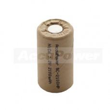 AccuPower Sub-C Zellen Ni-Cd, SC Akku