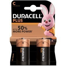 Duracell Plus MN1400 C/Baby/LR14 Batterie 2-Pack