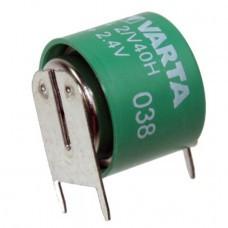 Varta 2/V40H NiMH Akku aufladbare Knopfzelle mit 3-Print Kontakte