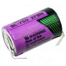 Tadiran SL-750/T 1/2AA Lithium Batterie mit Lötfahnen
