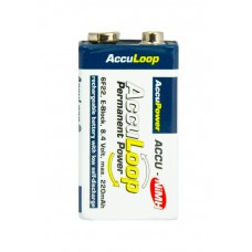 AccuPower AccuLoop AL220-2 9 Volt NiMH Ready2Use Akku