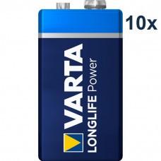 Varta 4922 High Energy 9Volt/6F22 Batterie 10-Pack