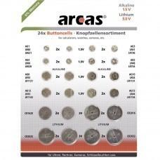 Coin cell Set Alkaline 1,5V 36 pcs. AG1, AG3, AG4, AG12, AG13