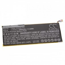 Battery for FisherPrice Nabi 7, TE69-1S3000-TCL, 2900mAh