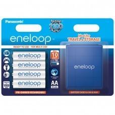 Panasonic Eneloop Plus AA / Mignon / LR6 4 pièces, y compris AccuPower AccuSafe