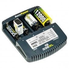 AccuPower Chargeur universel IQ338XL Li-Ion / Ni-Cd / Ni-MH
