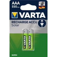 Paquet de 2 Varta Solar Accus AAA / Micro 550mAh
