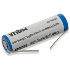Batterie VHBW pour Philips HQ8100, 3.7V, Li-Ion, 750mAh