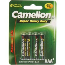 Camelion R03 zinc-carbone AAA / micro-pile 4 plaquettes