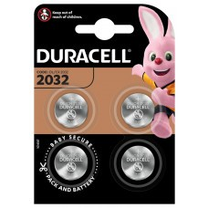 Pile bouton lithium Duracell CR2032, 4 blisters