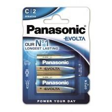 Paquet de 2 piles alcalines Panasonic EVOIA C / bébé