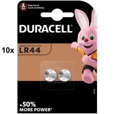 Batteria Duracell LR44, V13GA, GPA76, 82, LR1154, 357A 10x confezione da 2