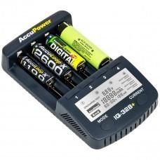 AccuPower IQ328 + V2 Li-Ion / Ni-MH Caricatore 18650 / AA / AA, etc.