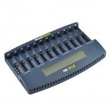 AccuPower IQ312 Caricabatterie a 12 canali Li-Ion / Ni-Cd / Ni-MH
