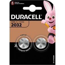 Batteria a bottone al litio Duracell CR2032 a 2 bolle