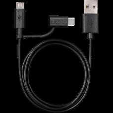 Cavo Varta 2in1 per ricarica e sincronizzazione da USB a Micro USB e USB Tipo C