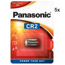 Panasonic CR2, CR2, CR2EP batteria al litio Pack 5