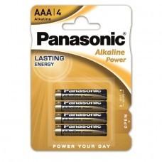 Panasonic Alkaline Poder AAA / Micro LR03APB batería 4-Pack