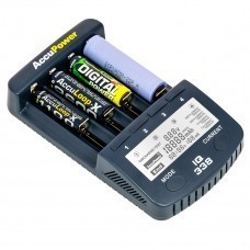 cargador AccuPower universal IQ338 con salida USB Li-Ion / Ni-Cd / Ni-MH