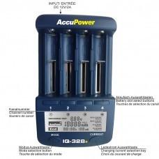 AccuPower IQ328 + V2 Li-Ion / Ni-MH Cargador para 18.650 / AA / AA, etc.