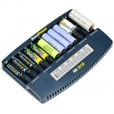 AccuPower IQ312 Cargador de 12 canales Li-Ion / Ni-Cd / Ni-MH
