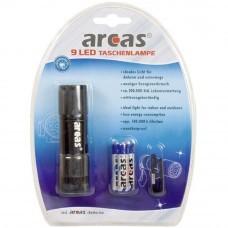 Arcas 9-LED linterna negra
