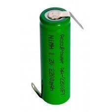 AccuPower Flat Top NiMH batería 1.2V AA / Mignon con terminal de soldadura en forma de Z