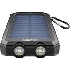 Banco de energía solar para exteriores 8.0 (8,000 mAh) con función de linterna