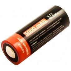 Celda cilíndrica 26650, Li-ion, 3.7V, 5000mAh, con puerto de carga USB