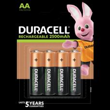 Duracell recargable AA, Mignon, batería HR06 de 2500 mAh, paquete de 4 baterías